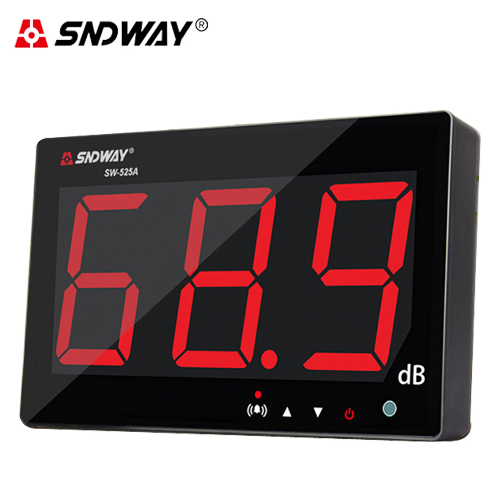 SNDWAY Digital Sound level meter 30~130db large screen display Wall hanging type noise meter decibel Indoor/office/home/Bar sndway sw 525b digital sound level meter 30 130db large display usb powered 9 6 decibel meter sound diagnostic tool