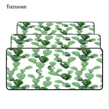 Yuzuoan Cactus Large Gaming Mouse Pad Lock Edge Rubber Speed Mouse Mat Mouse Pad Soft Mouse Mat For CSGO LOL Office/Home Use rakoon 30 80cm large gaming mouse pad all black faced red blue black green lock edge rubber speed mouse mat for pc laptop