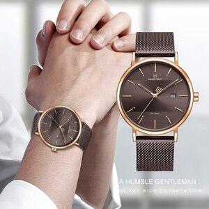 Image 3 - Relógios NAVIFORCE Moda Quartzo Homens Relógio À Prova D Água Esportes dos homens Relógios De Pulso Simples Data Analógico Masculino Relógio Relogio masculino