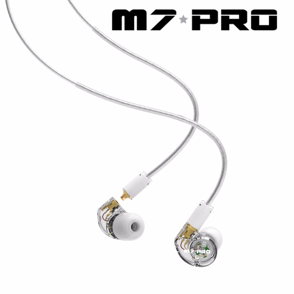 NEW Original MEE audio M7 PRO Universal-Fit Hybrid Dual-Driver Musician's In-Ear Monitors With Detachable Cables Calls ecouteurs