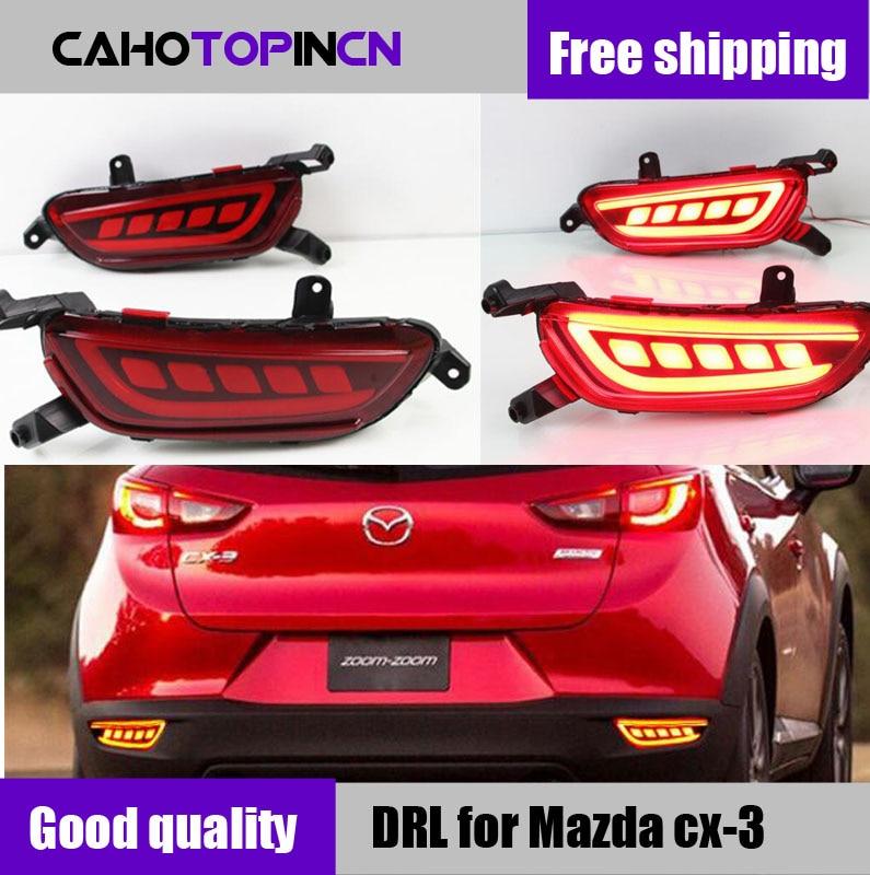 12V LED Rear Decoration Lamp rear driving light Taillight rear bumper Brake lamp warning Light for