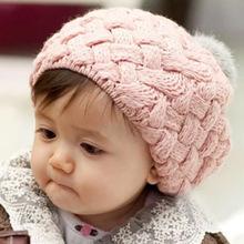 MAERSHEI jesienno-zimowa dziecięca wełniana czapka z dzianiny dziecięca włochata piłka skręcona kapelusz z króliczej wełny chłopcy i dziewczęta ciepły beret tanie tanio Berety Stałe Unisex Akrylowe boy and girl Na co dzień red yellow pink beige one size Berets winter autumn Fold Acrylic