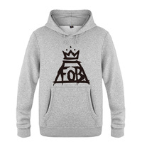 Fall Out Boy Hoodies Men Cotton Winter Teenages Fall Out Boy FOB Logo Sweatershirt Pullover Hoody