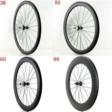 38/50/60/88mm-depth Bicycle Carbon-Wheels Road 700C Clincher Matte-Finish UD Rear 25mm-Width