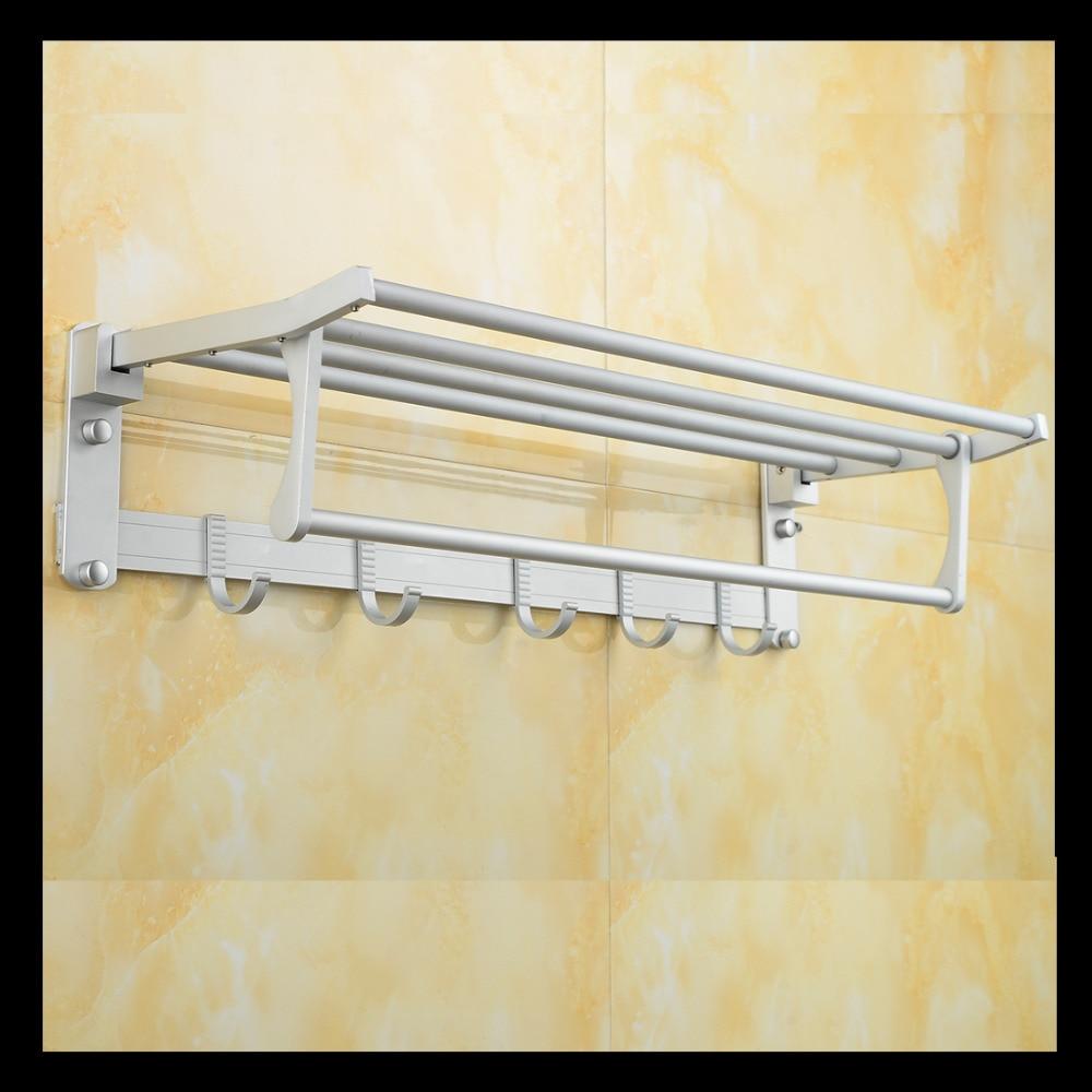 ФОТО Free Shipping Wall Mounted Space Aluminium Movable Bath Towel Holder,Towel Racks,Towel Rail,Bathroom Hardeware,Wholesale-XL5869