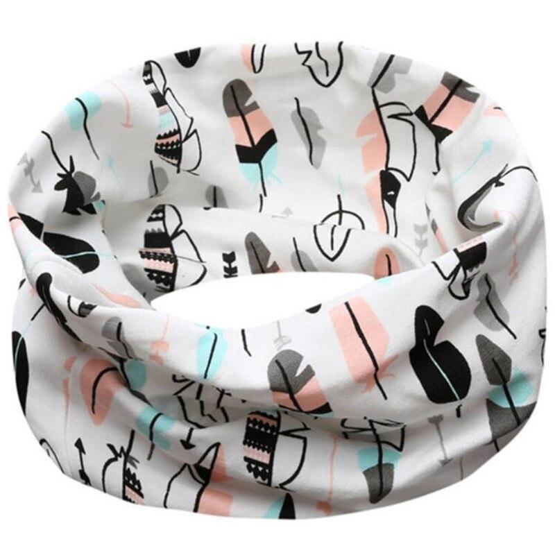 Новинка; Модный хлопковый шарф для маленьких девочек; осенне-зимний шарф для маленьких мальчиков; Детский шарф с круглым вырезом; Детские шарфы; волшебный шейный платок - Цвет: Feather