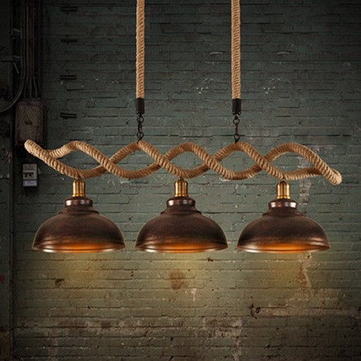 Edison Loft Style Hemp Rope Droplight Industrial Vintage Pendant Light Fixtures For Dining Room Hanging Lamp Lampara edison loft style vintage light industrial retro pendant lamp light e27 iron restaurant bar counter hanging chandeliers lamp