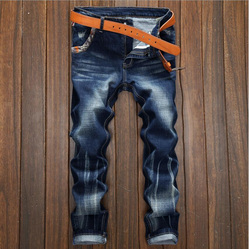 2017 Famous Brand Men Jeans High-grade Designer Straight Jeans Men Blue Casual Pants 100% Cotton Jeans For Men Plus Size 28-38 xmy3dwx n ew blue jeans men straight denim jeans trousers plus size 28 38 high quality cotton brand male leisure jean pants