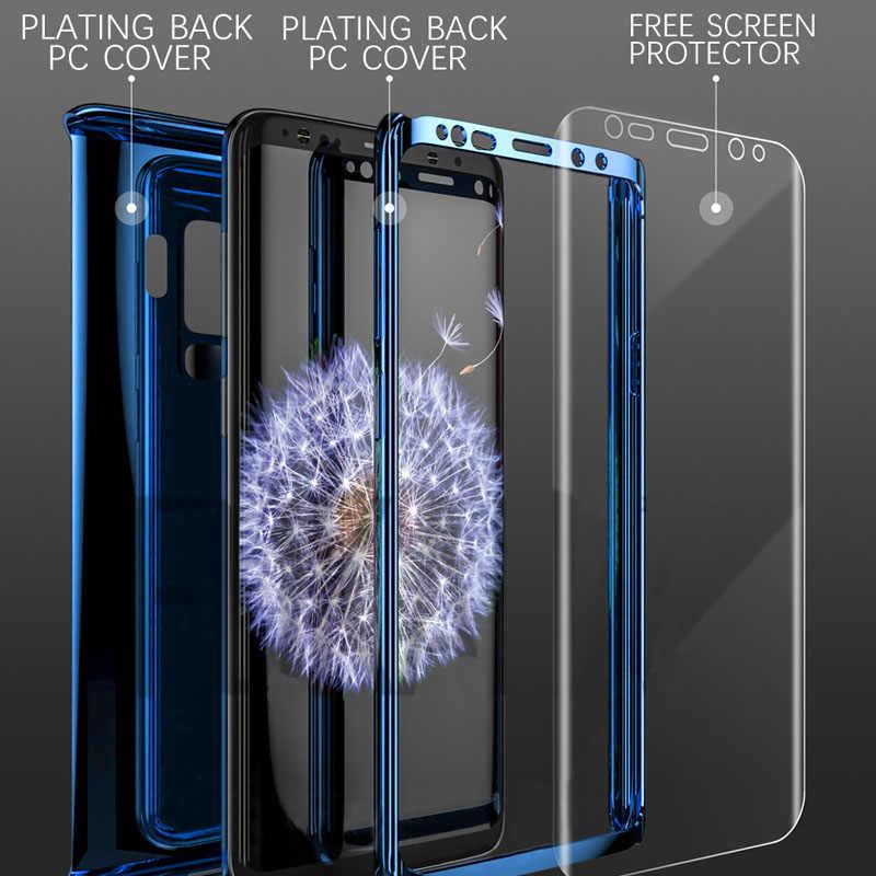360 Покрытие зеркальный чехол для samsung Galaxy S9 S8 S10 Plus S7 Edge полное покрытие защитный для samsung Note 9 8 S10e чехол