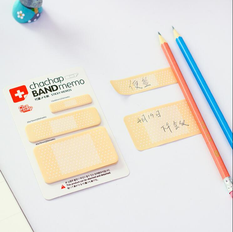 50 pcs/Lot sticky Memo pad Band memos Post it stickers Stationery office accessories School supplies 1627