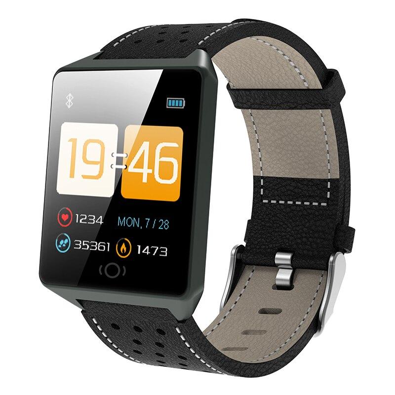 Bluetooth Smart Montres Pour Hommes Étanche IP67 Sport Caméra Appel En Cuir de Remise En Forme Intelligente Montre Hommes Femmes Pour iPhone Android IOS