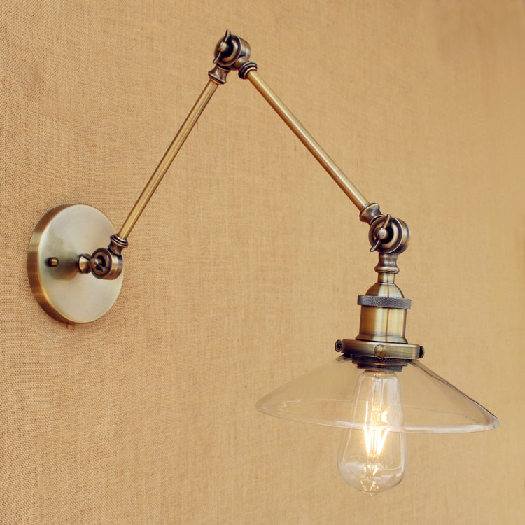 Sconces Loft Retro Vintage Wall Lights Fixtures Adjustable Swing Long Arm Light Edison Industrial Wall Lamp Appliques Murales swing long arm wall light rustic retro loft style industrial wall lamp vintage wandlamp edison wall sconces appliques murales