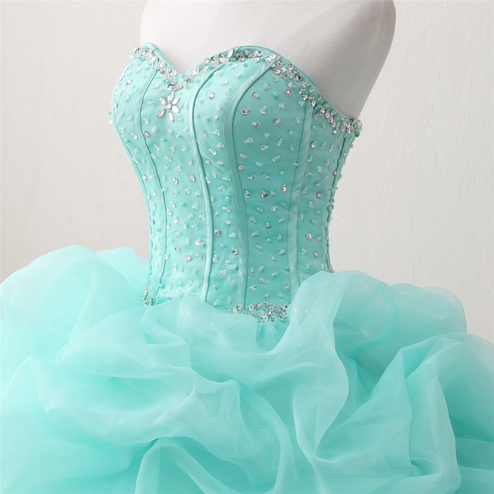 Bealegantom 2018 New Real Photo Mint Quinceanera Dresses Ball Gown - Հատուկ առիթի զգեստներ - Լուսանկար 3