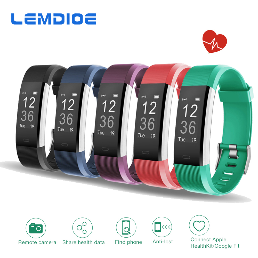 LEMDIOE Newest ID115HR PLUS Smart Band with Sleep Monitor Call messages Remider Fitness Tracker Heart Rate