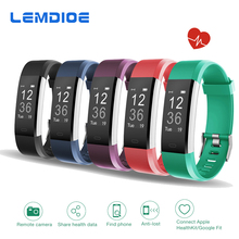 LEMDIOE Newest ID115HR PLUS Smart Band with Sleep Monitor Call messages Remider Fitness Tracker Heart Rate Wristband for Phones