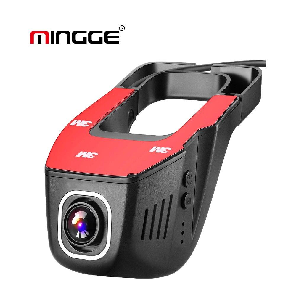 MINGGE Wi-Fi Видеорегистраторы для автомобилей Двойной объектив регистраторы 1080 P F HD Ночное видение Скрытая приборная панель Камера автомобилей...