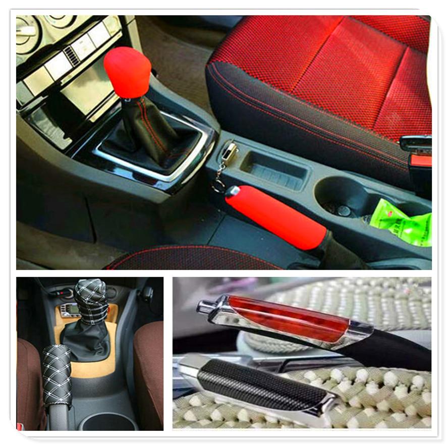 Car Suv Rubber Gear Shift Knob Handbrake Cover For Subaru Forester Ascent XV WRX VIZIV Outback Legacy Impreza Crosstrek