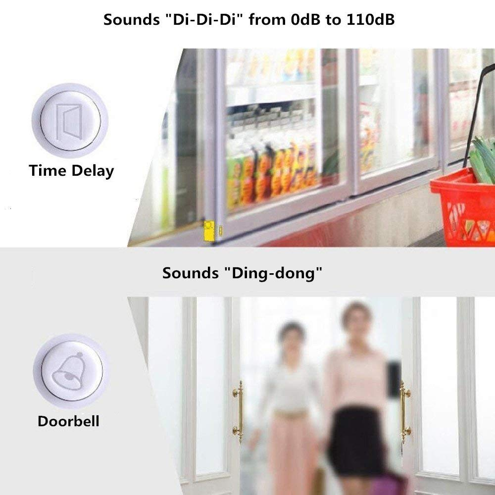 Door and Window Security Alarm Wireless Time Delay Alarm Magnetic Triggered HC