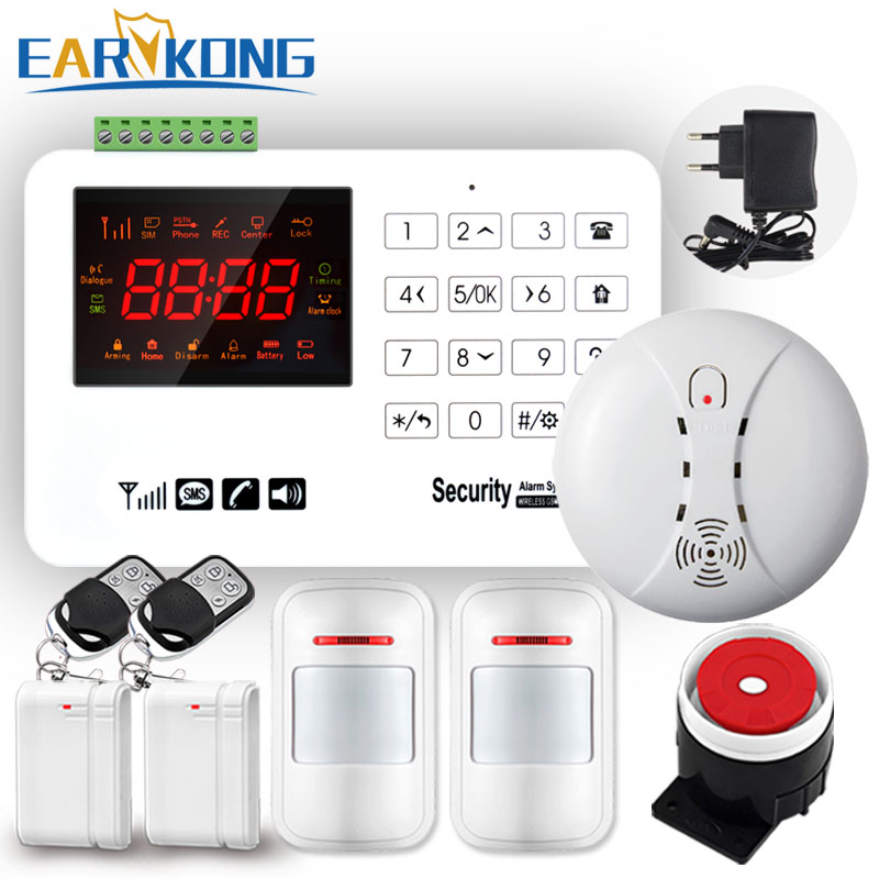NEW Earykong GSM Alarm System VIP Buyer Price Home Alarm Security System Door Detector Infrared Detector Touch Keyboard 433MHz wireless vibration break breakage glass sensor detector 433mhz for alarm system
