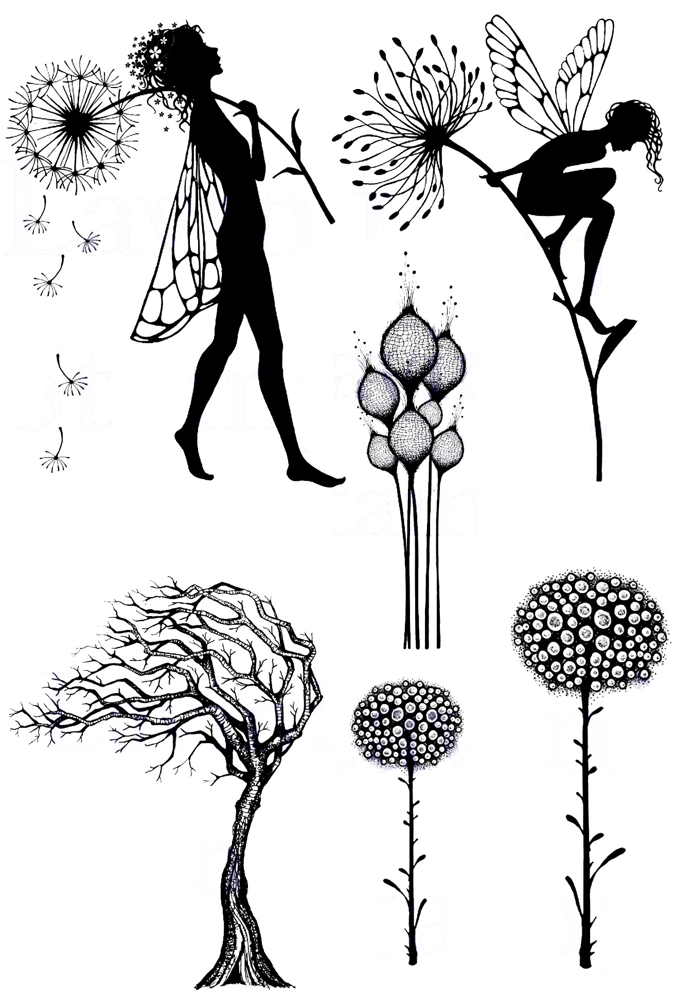 Fairies Tree In Wind Transparent Clear Stamp For DIY Scrapbooking/Card Making/Kids Christmas Fun Decoration Supplies