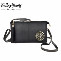 Sally Young 2017 New Bag Design Pattern Stylish Pu HandBags Candy Color Women Wallet VKP1557