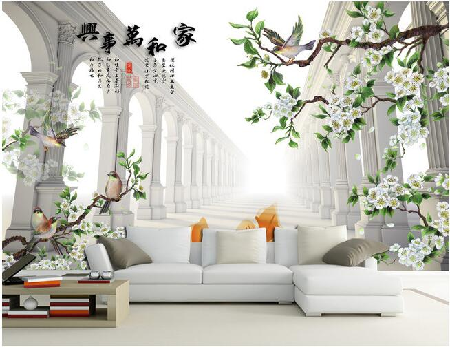 3d wallpaper custom mural non-woven 3 d figure TV setting wall painting flowers and birds murals photo wallpaper for walls 3 d custom mural 3d wallpaper rainforest flowers plant leaves living room home decor painting 3d wall murals wallpaper for walls 3 d