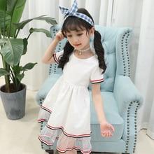 FHY Kids Clothing Newest Summer Baby Kid Girls Short Sleeved Dress Gauze Sequins Dress Summer Party Tutu Dresses Princess Dress