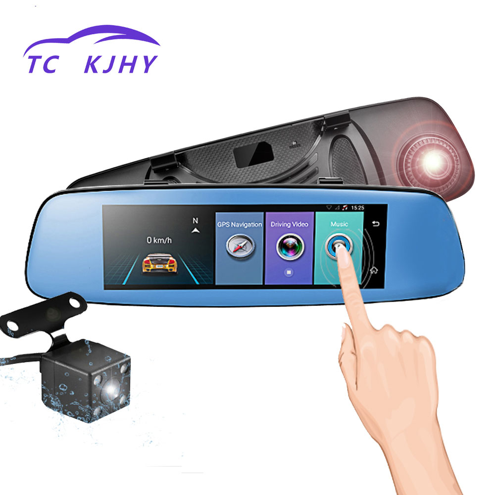 2018 Auto GPS Automobile Video Recorder Rear View Mirror Display with 7.84 Inch HD 1080P 4G Dash Cam Car DVR Camera Registrar