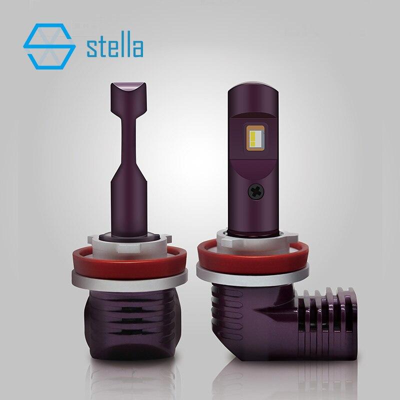 2 pièces mini led ampoule de phare de voiture H7 H8/HB3 H9/HB4 lumière H11 9005/9006 9012/5202/D1/D2/3/4/PSX24W/P13W/PSX26W 6000 k 5200lm 12 V 35 W