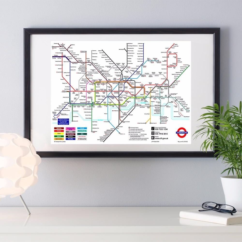 Welt U-bahn Metro Karte Leinwand Kunstdruck Malerei Poster Wand ...