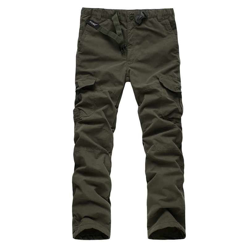 HTB1Y AOoHSYBuNjSspfq6AZCpXa1 - Men's Fleece Cargo Pants Winter Thick Warm Pants Full Length Multi Pocket Casual Military Baggy Tactical Trousers Plus size 3XL