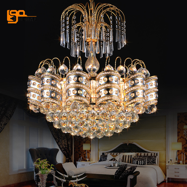 € 250.45 15% de réduction Contemporain LED lustre en cristal lampes lustre  télécommande lustre salle à manger lumières dans Lustres de Lumières et ...