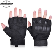 цена на Tactical Half Finger Gloves Outdoor Sport Airsoft Bicycle Paintball Military Assault Fingerless Knuckle Half Finger Gloves