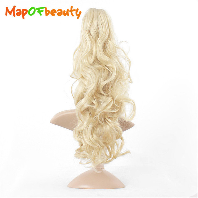 Mapofbeauty long claw clip black blonde 4 colors ponytail fake mapofbeauty long claw clip black blonde 4 colors ponytail fake hair extensions false hair pony wavy pmusecretfo Image collections