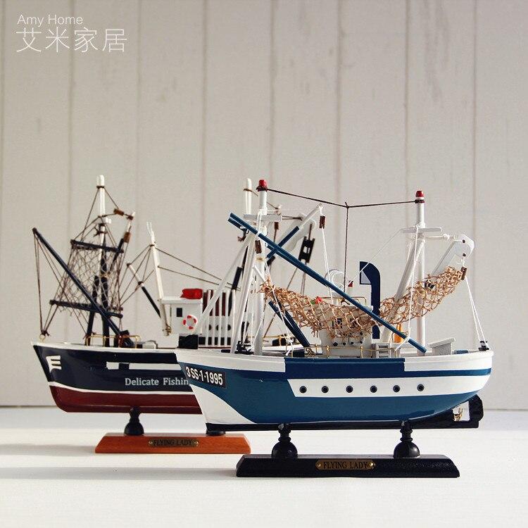 Style méditerranéen bois bateau manualidades décoration de mariage décor nautique vintage décor à la maison en bois décoration