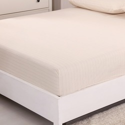 EARTHING Antibacterial silver fitted sheet  grounding sheet beige color king queen full  not included pillow case top quality