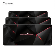 Yuzuoan 900*400*3mm CSGO Counter Strike Gaming Mousepad Natural Rubber Gamer Mouse Mat Pad Game Computer Desk Pad Mouse Play Mat