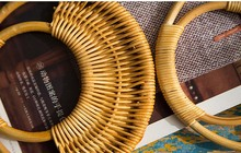 Rozmiar 16 cm cztery sztuk na każdą część bambusa Ratten trzciny cukrowej torebka uchwyt moda uchwyt DIY akcesoria hurtownia zamiennik Ratten uchwyt tanie tanio Ratten Handle Rafarad