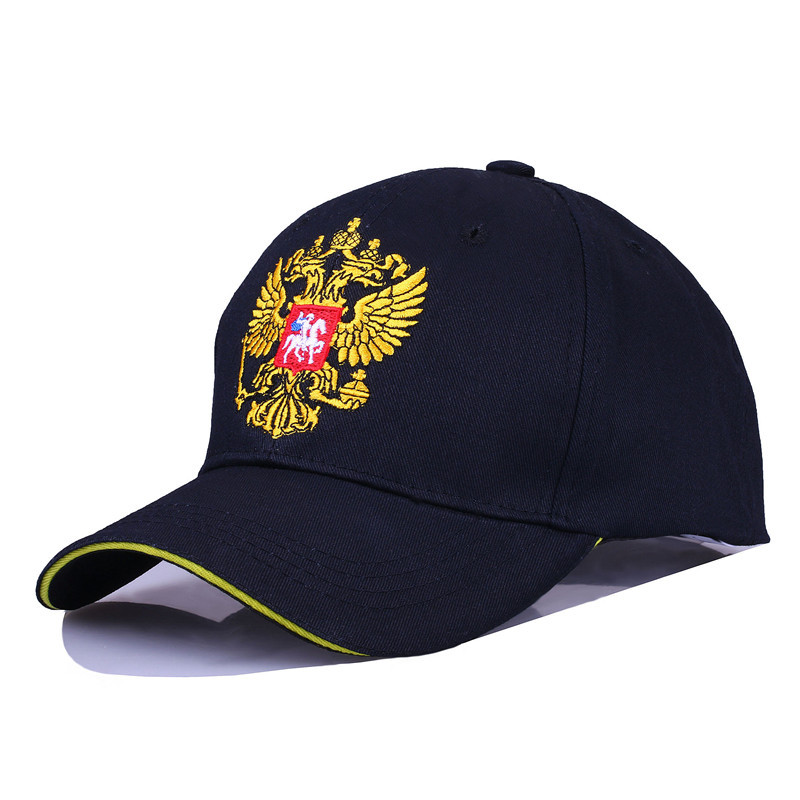Black   Cap   Cotton Outdoor   Baseball     Cap   Russian Emblem Embroidery Snapback Fashion Sports Hats For Men & Women Patriot   Cap