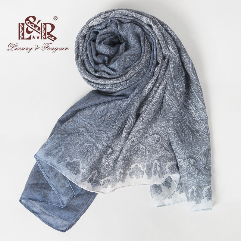2018 190*100cm Floral Bandana Women Foulard Silk Scarf Women Scarves Shawl And Wraps Print Chiffon Hijab Bufanda Mujer Female