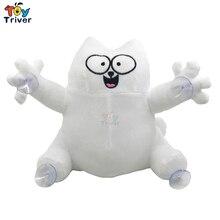 22 см плюшевая игрушка для кошек Симона, мягкая кукла с животными, Белый Кот Саймон Китти, мультяшная фигурка Youtube, подарок для детей, домашний декор