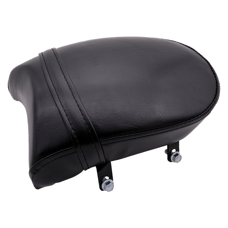 KaTur <font><b>Rear</b></font> Passenger Pillion Pad <font><b>Seat</b></font> for Harley Sportster XL <font><b>883</b></font> 883XL 883C 883N 2007-2013 DIY Motorcycle Styling Leather image