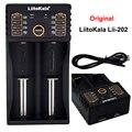 Original LiitoKala Lii-202 Cargador de Batería Inteligente con Función de Banco de Potencia USB para Ni-MH batería de Iones de Litio para 18650 14500 1044