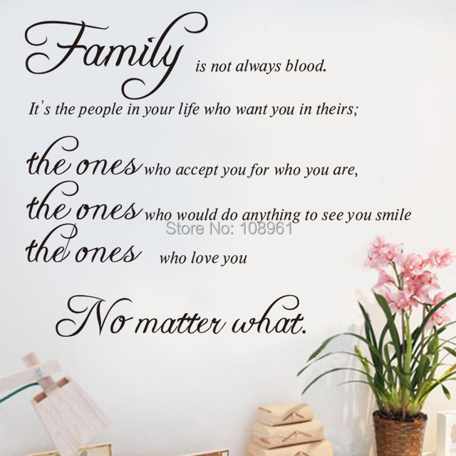 Family Isnt Always Blood Vinyl Art Removable Diy Quotes And Sayings