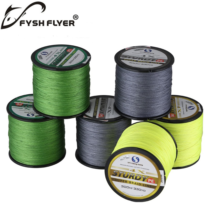 300m brand superpower 4 strands strong japan multifilament for 20 lb braided fishing line