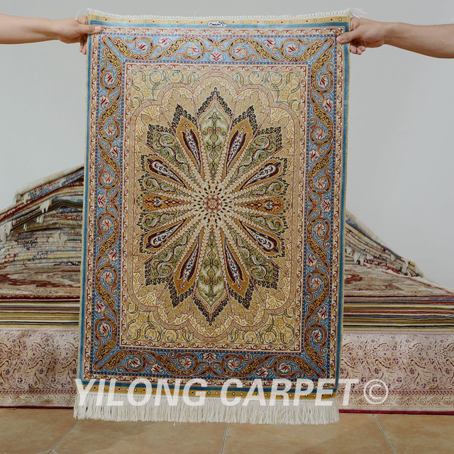 Yilong 2 1 X3 Turkish Silk Carpet Small Handmade Exquisite Persian Rugs Online