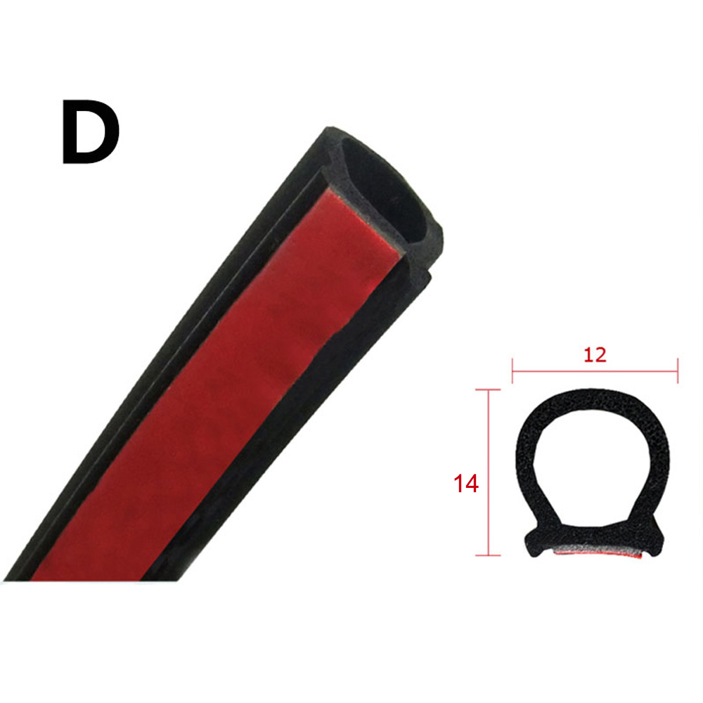 8M Big D Type Car Door Rubber Seal Strip Auto Sound Insulation Weatherstrip Car Supplies Sealing Strips Car Door Seal цена