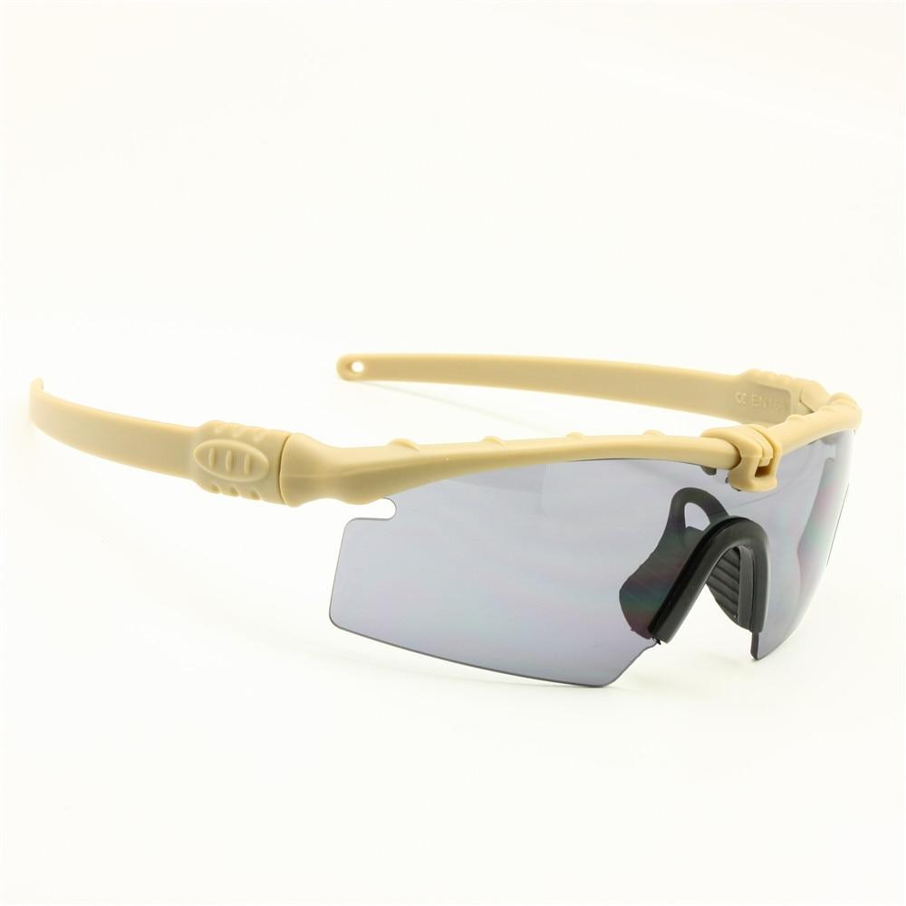 Polarisé armée lunettes de soleil lunettes militaires balistiques hommes cadre 3/4 Lens combat guerre jeu auto (camouflage 4 lentilles) pNftyOKSgg