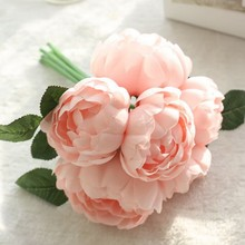 Buy office decor accessories and get free shipping on aliexpress 1 bunch fake flowers holding flowers rich peony flowers artificial flower wedding decoration office home decoration junglespirit Image collections