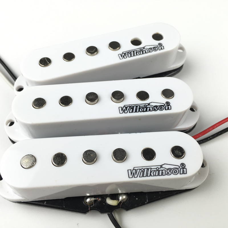 Wilkinson Electric Guitar Humbucker Pickups Lic Vintage Single Coil Pickup Fit MWVSN/M/B 1 set of 2 one black one yellow humbucker double coil electric guitar pickups